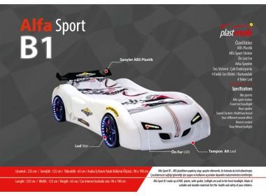 Alfa sport araba karyola serisi