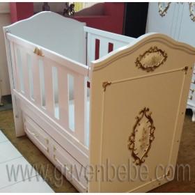 Altın Varaklı bebek beşikleri avangard