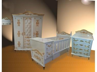 Altın Varaklı kraliçem bebek odası