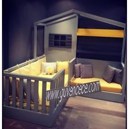 Montessori L tasarımı çocuk yatakları