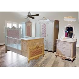 Saraylı Oymalı Kapitoneli bebek odası
