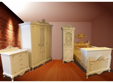 Saraylı Lüx Oymalı Bebek Odası